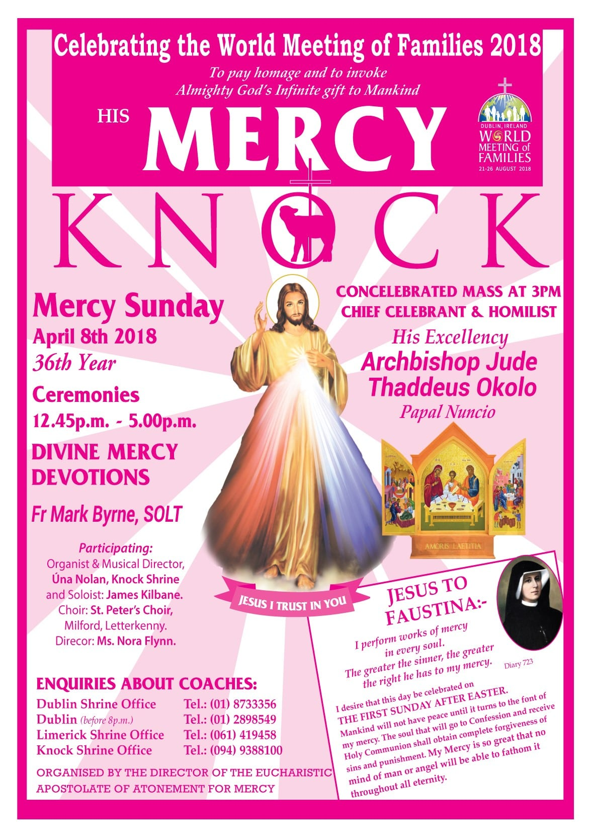 Papal Nuncio to lead 36th annual Divine Mercy Sunday celebrations at ...
