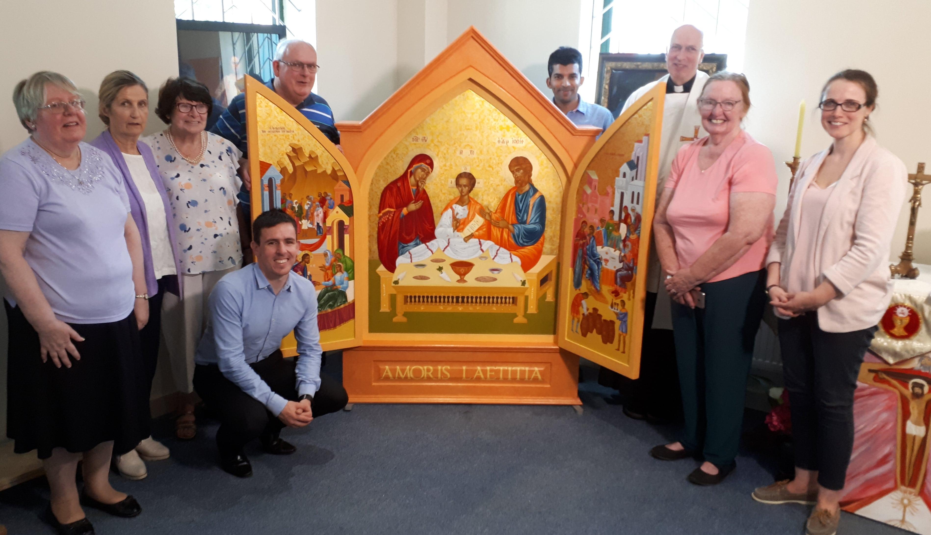 WMoF Icon of the Holy Family at Radio Maria Ireland Studio